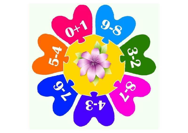 Рахуємо пазли «Квітка»